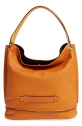 Longchamp '3D' Leather Hobo Yellow