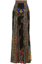 Just Cavalli Printed Chiffon Maxi Skirt Multi
