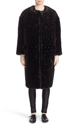 Noir Kei Ninomiya Women's Studded Faux Fur Coat