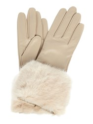 Ted Baker Emree Faux Fur Cuff Glove Camel