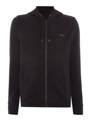 Michael Kors Fleece Lined Zip Through Hoodie Black