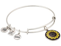 Alex And Ani Sunflower Charm Bangle Rafaelian Silver Bracelet Gold