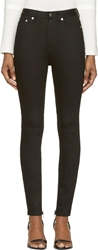 Blk Dnm Black High Waisted Skinny Jeans