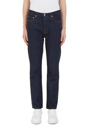 Acne Studios Van New Worn Straight Leg Jeans Navy