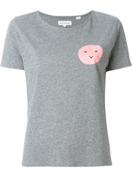 Chinti And Parker Face Print T Shirt Grey