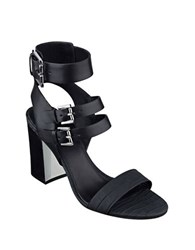 Marc Fisher Paige High Heel Leather Sandals Black