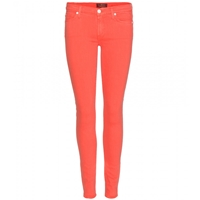 7 For All Mankind The Skinny Jeans Silk Touch Coral