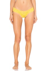 Hanky Panky Signature Lace Low Rise Thong Yellow