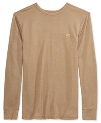 Billabong Men's Essential Thermal Knit T Shirt Khaki