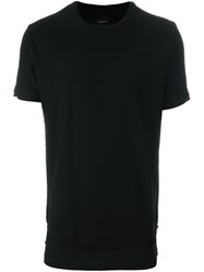 Diesel Layered Hem T Shirt Black