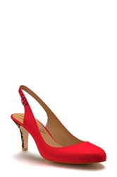 Shoes Of Prey Slingback Pump Women Red