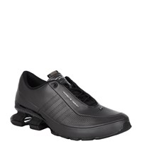 Porsche Design Bounce S4 Leather Running Shoe Male Black