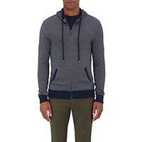 Michael Kors Men's Striped Zip Front Hoodie Navy