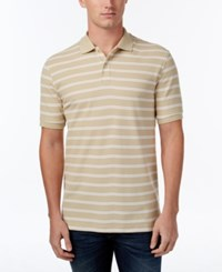 Club Room Men's Striped Polo Only At Macy's Serene Beige