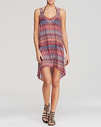 Profile By Gottex Party Time Mesh High Low Dress Swim Cover Up Multi
