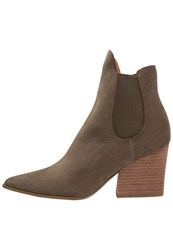 Kendall Kylie Finley Ankle Boots Khaki Light Brown