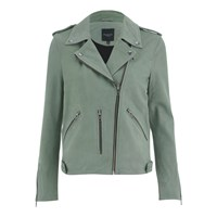 Selected Femme Women's Ketty Leather Jacket Morel
