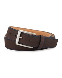 Robert Graham Lewis Suede Belt Brown