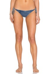 Seafolly Deja Blue Brazilian Tie Side Bottom