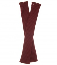 Maison Martin Margiela Fingerless Wool Gloves Red