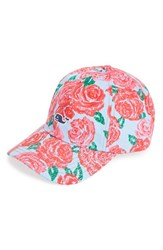 Men's Vineyard Vines 'Derby Rose' Print Baseball Cap