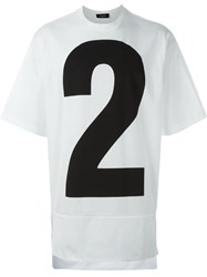 Dsquared2 Number Two Print T Shirt White
