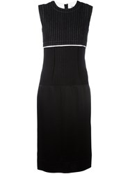Dkny Pinstripe Midi Dress Black