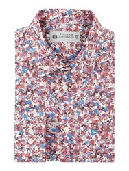 Turner And Sanderson Men's Hartwell Abstract Floral Print Shirt Pink