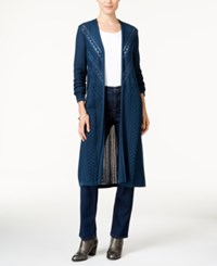 Styleandco. Style Co. Pointelle Knit Duster Cardigan Only At Macy's New Rustic Teal