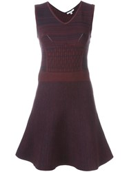 Dagmar 'Aloisa' V Neck Dress Red