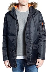 Men's Bellfield Hooded Parka With Faux Fur Trim