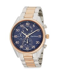 English Laundry Two Tone Stainless Steel Chronograph Watch Multi