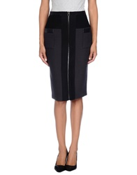 Hotel Particulier Knee Length Skirts Steel Grey