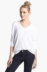 Wildfox Couture Women's V Neck Pullover Clean White