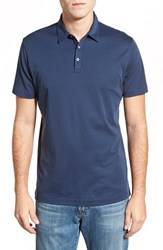 Men's Robert Barakett 'Dalton' Pima Cotton Polo Marine Blue