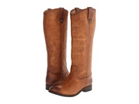Frye Melissa Button Cognac Washed Antique Pull Up Cowboy Boots Brown