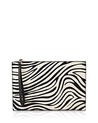 Whistles Java Zebra Print Calf Hair Wristlet Black White