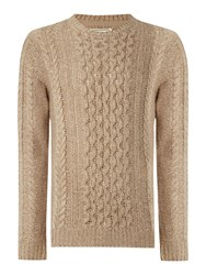 Jack And Jones Cable Knit Crew Neck Jumper Cream