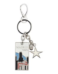 Tod's Small Leather Goods Key Rings Women White