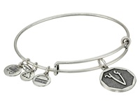 Alex And Ani Initial V Charm Bangle Rafaelian Silver Finish Bracelet