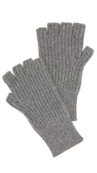 Rag And Bone Kaden Fingerless Gloves Grey Melange
