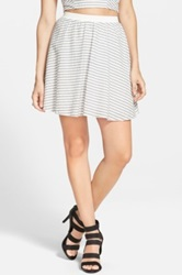 Wayf Seersucker Skirt Juniors Black