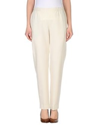 Pt0w Casual Pants Ivory