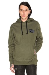 Black Scale Rebel Patch Hoodie Olive
