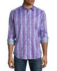 Robert Graham Porthole Printed Sport Shirt Lilac Purple