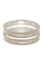 Anna Beck Sterling Silver Double Bar Band Ring Metallic