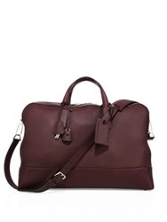 Brioni Leather Duffle Bag Burgundy