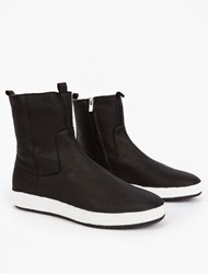 Officine Creative Black Leather Slip On Boots
