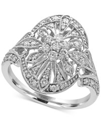 Effy Pave Classica By Diamond Deco Ring 1 2 Ct. T.W. In 14K White Gold