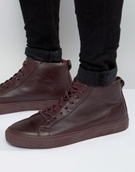 Jack And Jones Neptune Leather Trainers Red